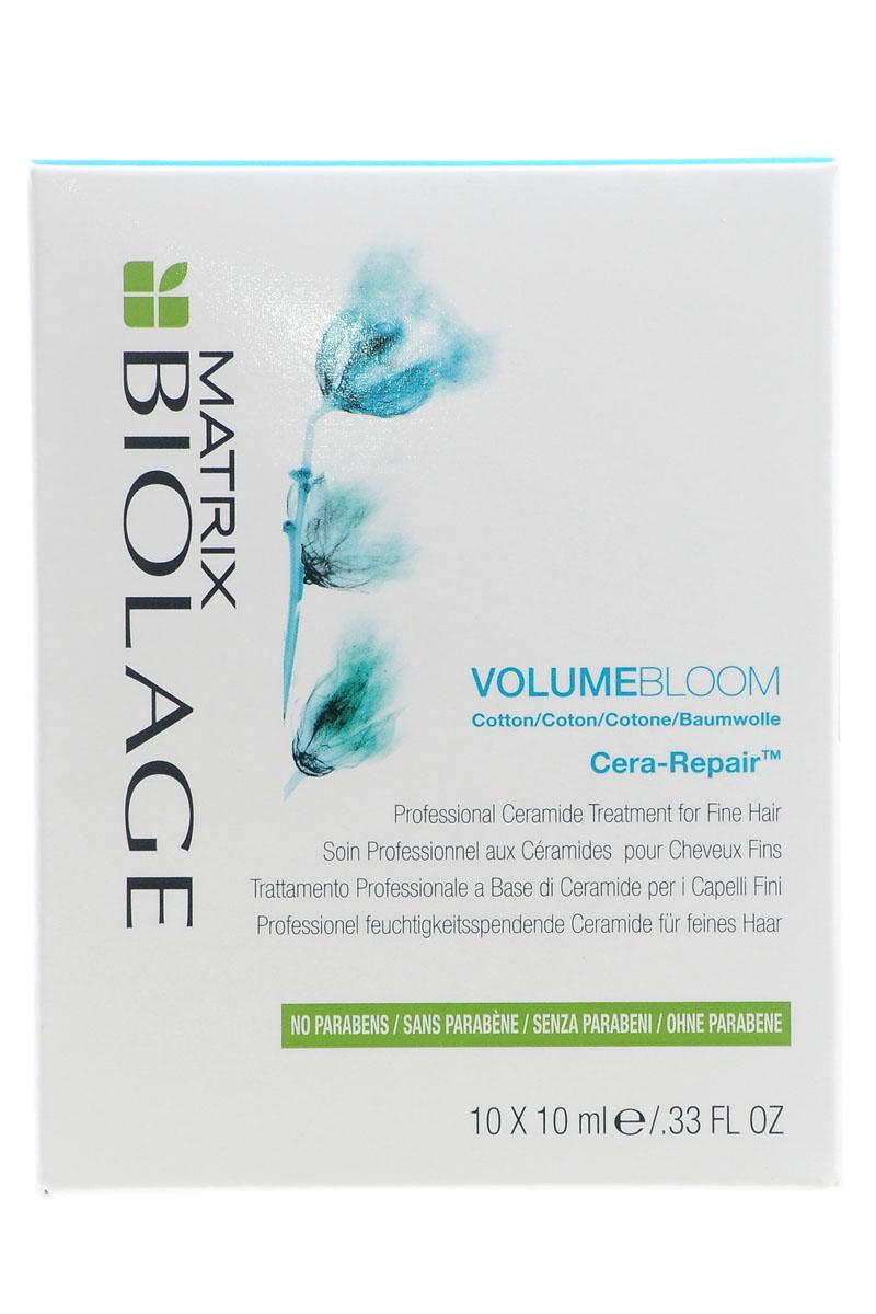 Matrix КЕРА-РЕПЕАР уход Biolage Volumebloom 10х10E0955400Это уход-бустер с экстрактом хлопка придает истонченным волосам плотность, возвращая им здоровый вид. Визуально увеличивает объем каждого волоса.