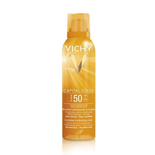 Vichy Capital Soleil Увлажняющий спрей-вуаль SPF50 для тела 200млM8074200Увлажняющий спрей-вуаль мгновенно придает коже бархатистый эффект. Обеспечивает максимальную защиту от солнца и глубоко увлажняет кожу. Не липкий и не жирный. Не модержит спирта. Водостойкий