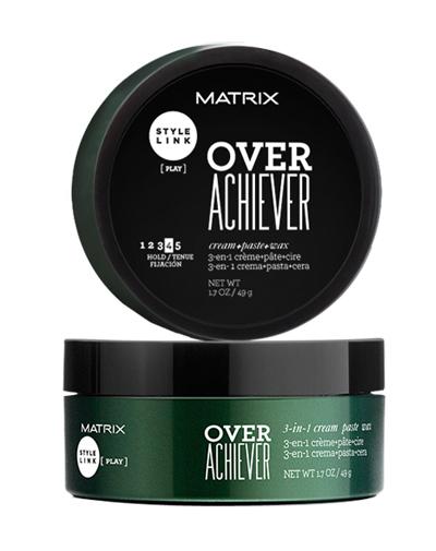 Matrix ОВЕР ЭЧИВЕР 3 в 1 КРЕМ+ПАСТА+ВОСК СТАЙЛ ЛИНК 50 МЛP0933600Over Achiever 3 в 1 - это продукт для текстурирования волос без эффекта склеивания. Распределяется по волосам как крем, фиксирует как воск, текстурирует как паста. Средство поможет придать волосам блеск, текстуру, зафиксировать волосы со средней силой и выделить отдельные прядки у волос короткой и средней длины. Не склеивает волосы, подходит для повторного моделирования укладки. Степень фиксации: 4.