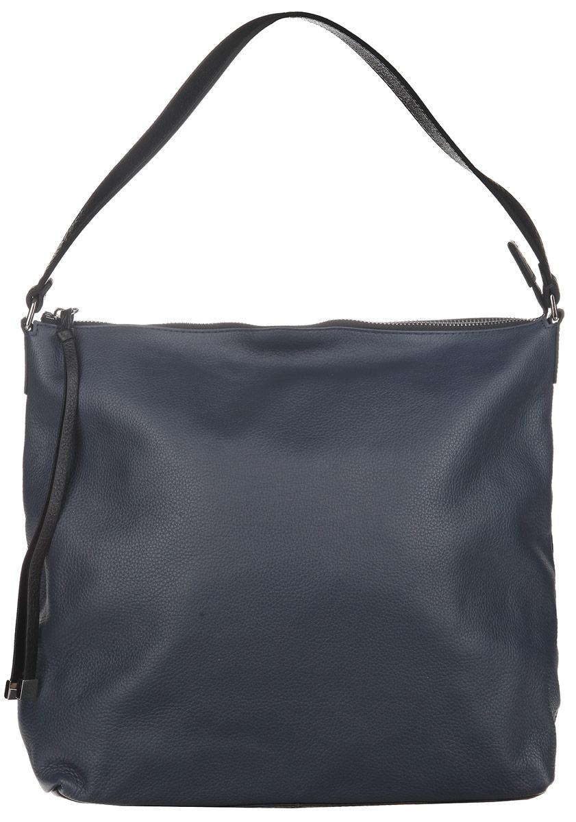 Сумка женская Palio, цвет: синий. 14108A-W1-817/018 blue14108A-W1-817/018 blueЖенская сумка PALIO из натуральной кожи. Внутри: одно отделение, разделенное большим карманом на пластиковой молнии. На боковых стенках расположены: два открытых кармана для мелочей и один карман на пластиковой молнии. На лицевой стороне аксессуара есть небольшой закрытый карман. Сумка закрывается на металлические молнии и вмещает формат А4. На дне расположены металлические ножки, что позволяет защитить ее от механических повреждений. Кожа мягкая, не держит форму, длинна ручки подходит для ношения на плече. Фурнитура – серебро. В комплект входит наплечный ремень с регулируемой длинной.