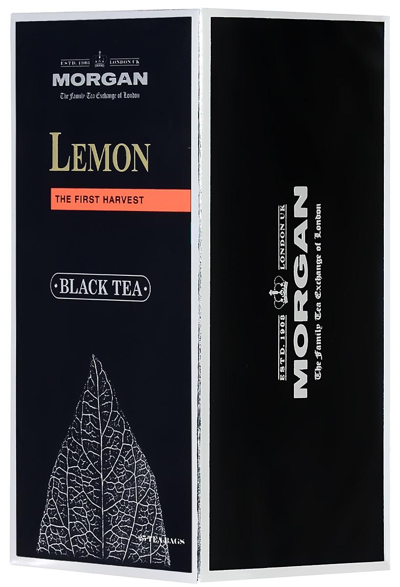 Morgan Lemon чай черный в пакетиках, 25 шт4607141334191Morgan Lemon с ароматом лимона раскрывает вкус черного чая и делает его освежающим. Лимонное масло в составе чая рождает классический цитрусовый вкус напитка, который превосходно согреет и придаст сил в любое время дня.