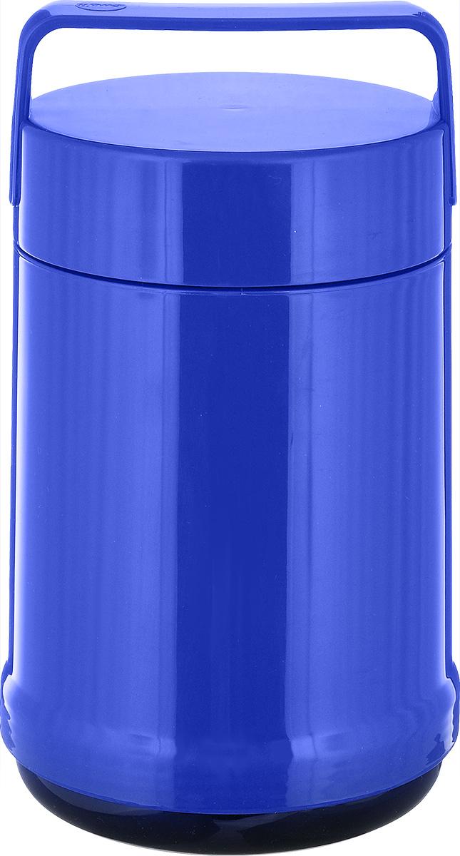 Термос для еды Emsa Rocket, цвет: синий, 1,4 л514535Термос с широким горлом Emsa Rocket выполнен из прочного цветного пластика со стеклянной колбой. Термос прост в использовании и очень функционален. В комплекте 2 контейнера, которые можно использовать в качестве мисок для еды. Легкий и прочный термос Emsa Rocket сохранит вашу еду горячей или холодной надолго. Высота (с учетом крышки): 25 см. Диаметр горлышка: 12,5 см. Диаметр дна: 14 см. Размер большого контейнера: 11,8 см х 11,8 см х 16,5 см. Размер маленького контейнера: 11 см х 10 см х 4,7 см. Сохранение холода: 12 ч. Сохранение тепла: 6 ч.