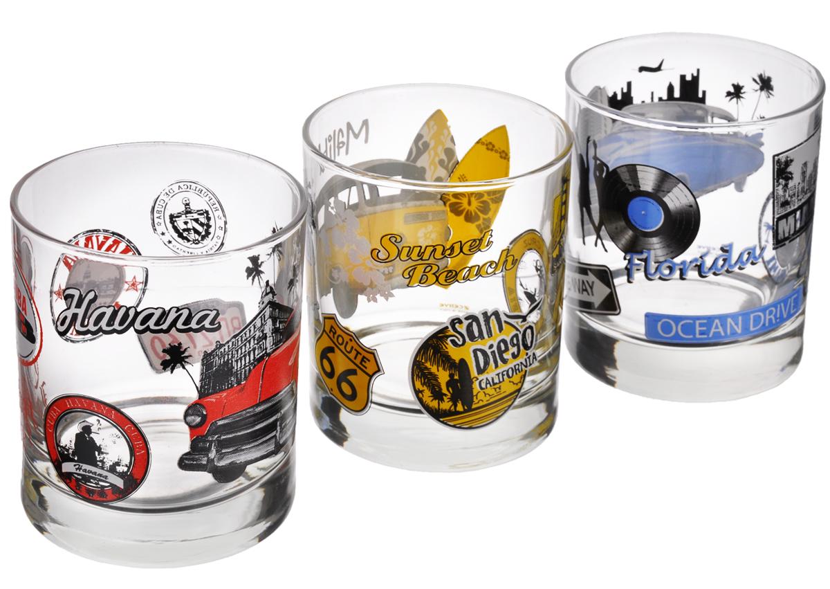 Набор стаканов Cerve Мечты, 250 мл, 3 штCEM44170Набор Cerve Мечты состоит из 3 стаканов, изготовленных из высококачественного стекла. Изделия оформлены надписями известных городов и изображениями машин. Такой набор идеально подойдет для сервировки стола и станет отличным подарком к любому празднику. Разрешается мыть в посудомоечной машине. Диаметр стакана (по верхнему краю): 7,5 см. Высота стакана: 9 см.