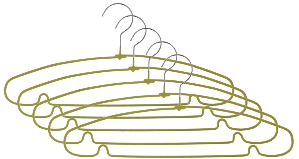 Вешалка для одежды Чистый домик, цвет: салатовый, 40 см, 5 штGYMHS2665LGВешалка для одежды Чистый домик, выполненная из металла с противоскользящим покрытием, идеально подойдет для разного вида одежды. Она имеет надежный крючок и металлическую перекладину с двумя выемками для юбок. Вешалка - это незаменимая вещь для того, чтобы ваша одежда всегда оставалась в хорошем состоянии. Размер вешалки: 40 см х 0,5 см х 18 см. Комплектация: 5 шт.