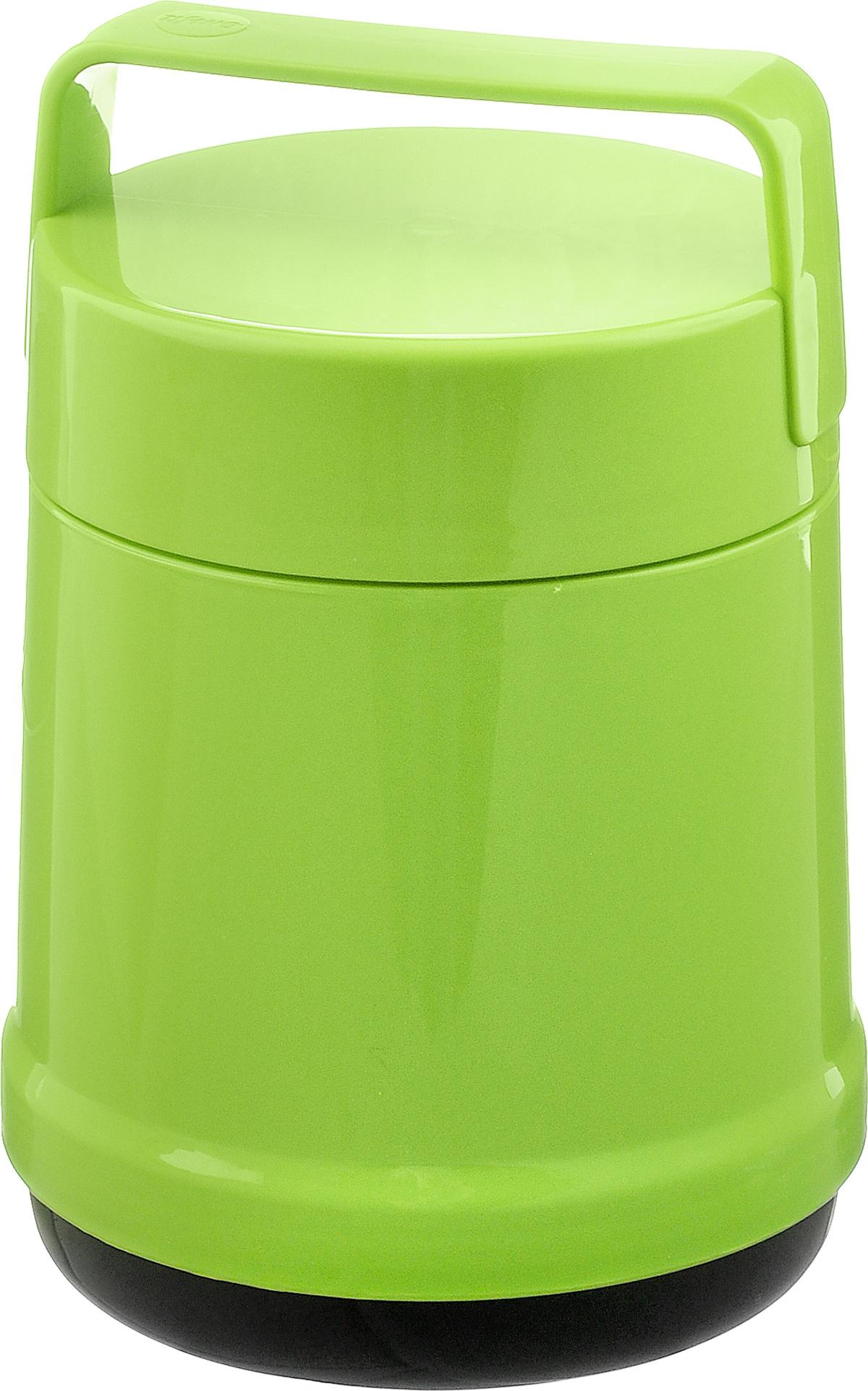 Термос для еды Emsa Rocket, цвет: зеленый, 1 л514534Термос с широким горлом Emsa Rocket выполнен из прочного цветного пластика со стеклянной колбой. Термос прост в использовании и очень функционален. В комплекте 2 контейнера, которые можно использовать в качестве мисок для еды. Легкий и прочный термос Emsa Rocket сохранит вашу еду горячей или холодной надолго. Высота (с учетом крышки): 22 см. Диаметр горлышка: 12,5 см. Диаметр дна: 14 см. Размер большого контейнера: 11,8 см х 11,8 см х 12,5 см. Размер маленького контейнера: 11 см х 10 см х 4,7 см. Сохранение холода: 12 ч. Сохранение тепла: 6 ч.
