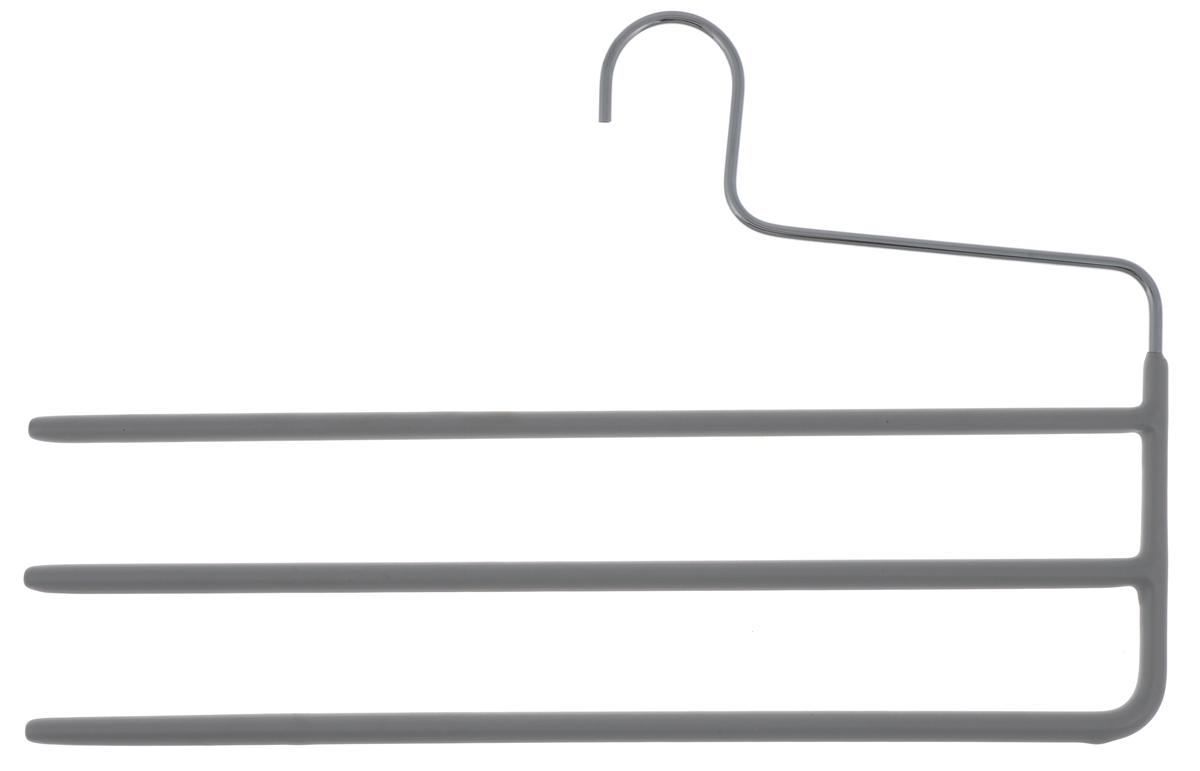 Вешалка для брюк Cosatto, цвет: серыйCOVLPA2231Вешалка для брюк Cosatto изготовлена из металла с антискользящим покрытием. Имеет 3 перекладины для брюк. Вешалка - это необходимый аксессуар для аккуратного хранения вещей.