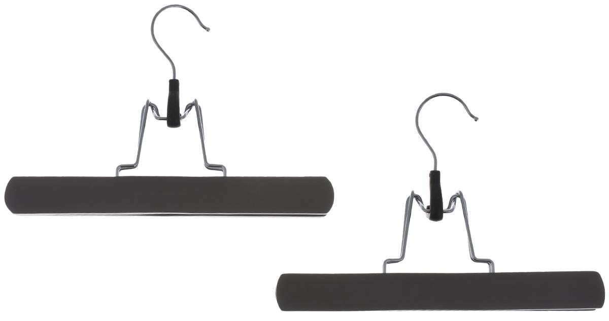 Вешалка-зажим для брюк Cosatto, цвет: мокко, 2 штCOVLPALT45MДеревянная вешалка для одежды Cosatto изготовлена из натуральной крашеной, специально обработанной древесины (массив бука), защищенной бесцветным лаком от проникновения влаги, деформации или разбухания. Вешалка предназначена специально для брюк. Все металлические части вешалки изготовлены из нержавеющей стали с напылением, препятствующим окислению и ржавчине. Вешалка - это незаменимая вещь для того, чтобы ваша одежда всегда оставалась в хорошем состоянии. Размеры вешалки: 25 см х 2 см х 17 см.