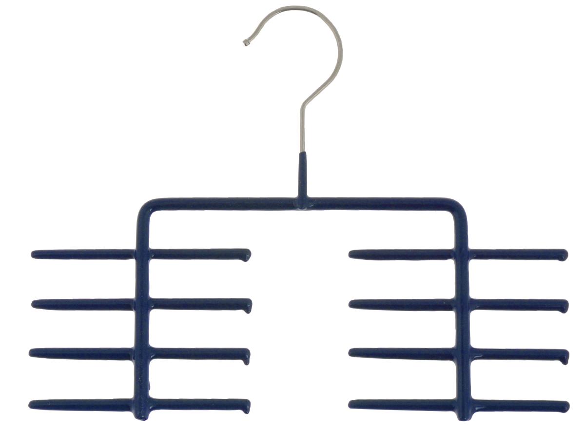 Вешалка для галстуков Cosatto, цвет: темно-синийCOVLPA6101Вешалка для галстуков Cosatto изготовлена из металла с антискользящим покрытием. Имеет 8 перекладин для галстуков, шарфов и других аксессуаров. Вешалка - это необходимый аксессуар для аккуратного хранения вещей.