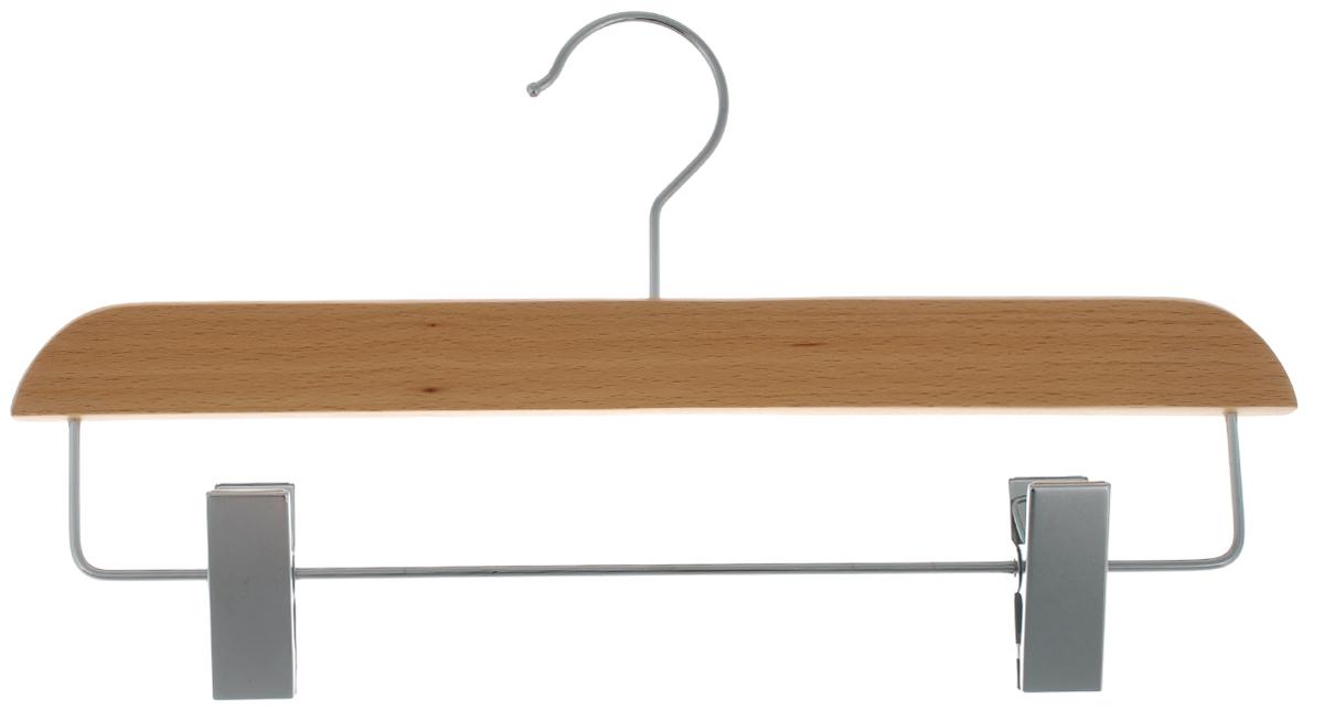 Вешалка для брюк и юбок Cosatto, с зажимами, цвет: бук, 33 смCOVLPALN32Вешалка Cosatto, выполненная из дерева и нержавеющей стали, идеально подойдет для брюк и юбок. Она имеет надежный крючок и металлическую перекладину с двумя зажимами. Вешалка - это незаменимая вещь для того, чтобы ваша одежда всегда оставалась в хорошем состоянии. Размер вешалки: 33 см х 1,5 см х 16 см.
