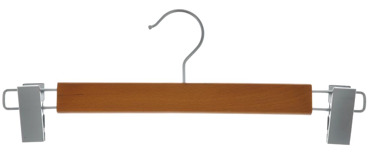 Вешалка для брюк и юбок Cosatto, с зажимами, цвет: орех, 34 смCOVLPALB32Вешалка для одежды Cosatto, выполненная из дерева и нержавеющей стали, идеально подойдет для брюк и юбок. Она имеет надежный крючок и два зажима. Вешалка - это незаменимая вещь для того, чтобы ваша одежда всегда оставалась в хорошем состоянии. Размер вешалки: 34 см х 1,5 см х 16 см.