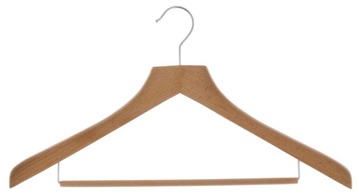 Вешалка для одежды Cosatto, цвет: бук, 44 смCOVLPALN71Вешалка для одежды Cosatto, выполненная из дерева и нержавеющей стали, идеально подойдет для разного вида одежды. Она имеет надежный крючок и деревянную перекладину для брюк и юбок. Вешалка - это незаменимая вещь для того, чтобы ваша одежда всегда оставалась в хорошем состоянии. Размер вешалки: 44 см х 2 см х 23,5 см.
