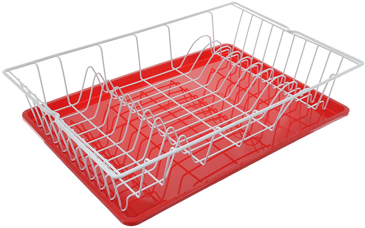 Сушилка для посуды Metaltex Germatex Plus, с поддоном, цвет: красный, белый, 48 х 30 х 9,5 см32.02.45-514_красныйСушилка Metaltex Germatex Plus, изготовленная из стали, представляет собой решетку с ячейками для посуды. Изделие оснащено пластиковым поддоном для стекания воды. Сушилка Metaltex Germatex Plus не займет много места на вашей кухне. Вы сможете разместить на ней большое количество предметов. Компактные размеры и оригинальный дизайн выделяют эту сушилку из ряда подобных. Размер сушилки: 48 х 30 х 9,5 см. Размер поддона: 45 х 31 х 2 см.