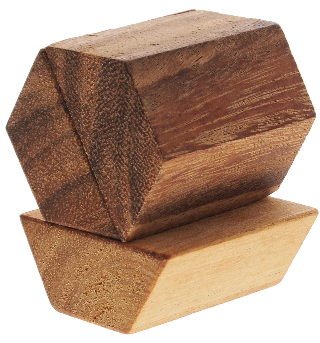 Dilemma Головоломка Пирамида 3 элементаIQ503Головоломка Dilemma Пирамида, выполненная из дерева, станет отличным подарком всем любителям головоломок! Изделие состоит из трех одинаковых деревянных элементов. Попробуйте собрать пирамиду. Если слишком сложно, то вы можете воспользоваться подсказкой из предложенного решения. Рассчитана головоломка на одного игрока. Головоломка Dilemma Пирамида стимулирует логику, пространственное мышление и мелкую моторику рук.