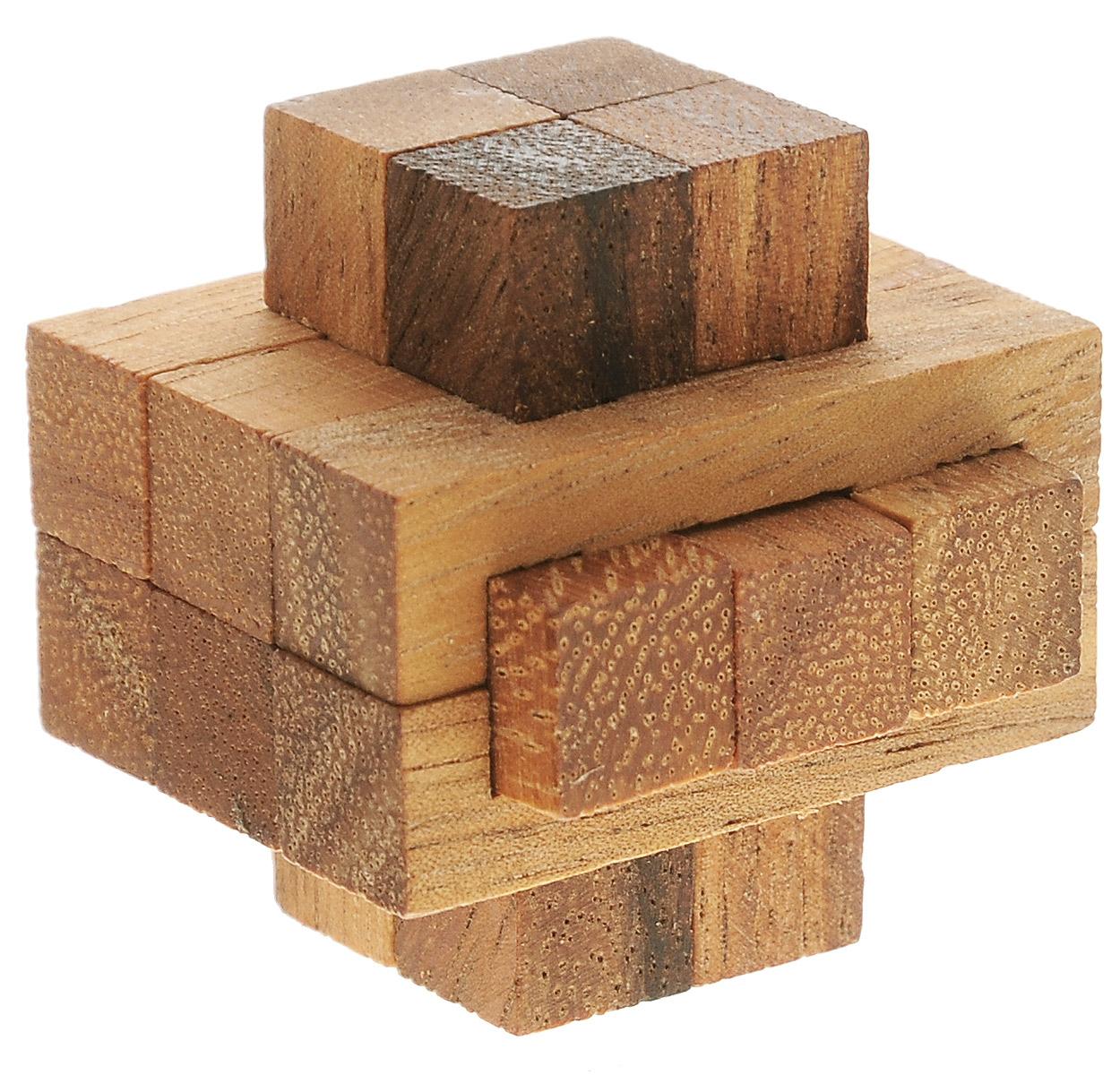 Dilemma Головоломка Колючка со смешанными блокамиIQ139BГоловоломка Dilemma Колючка со смешанными блоками, выполненная из дерева, станет отличным подарком всем любителям головоломок! Головоломка для одного игрока. Представляет собой 12 деревянных элементов. Не менее трех элементов должны пересекаться под прямыми углами. Необходимо разобрать и собрать снова в трехмерную пересекающуюся конструкцию. Слишком сложно? Тогда вы можете воспользоваться подсказкой, которая находится в инструкции. Головоломка Dilemma Колючка со смешанными блоками стимулирует логику, пространственное мышление и мелкую моторику рук.
