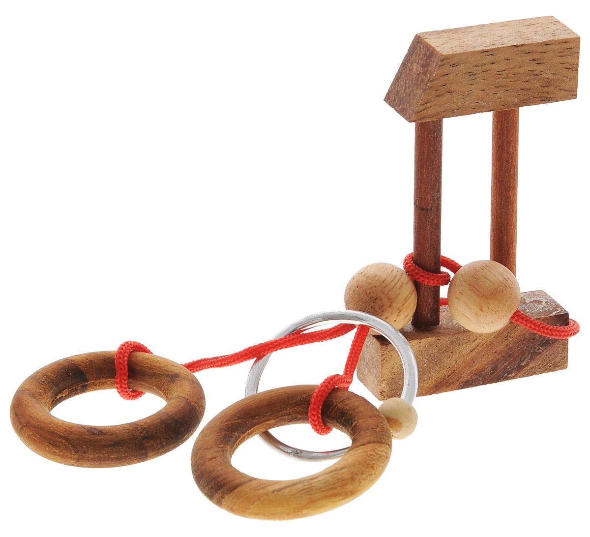 Dilemma Головоломка Кольцо в замкеIQ865Головоломка Dilemma Кольцо в замке, выполненная из дерева, текстиля и металла, станет отличным подарком всем любителям головоломок! Освободите серебряное кольцо. Использование ножниц запрещено... Получилось? Попробуйте поместить серебряное кольцо обратно. Слишком сложно? Воспользуйтесь подсказкой из предложенного решения. Игра рассчитана на одного игрока. Головоломка Dilemma Кольцо в замке стимулирует логику, пространственное мышление и мелкую моторику рук.