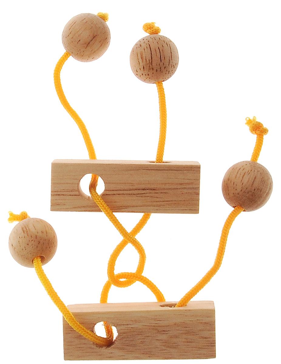 Dilemma Головоломка БлизнецыIQ882Головоломка Dilemma Близнецы, выполненная из дерева и текстиля, станет отличным подарком всем любителям головоломок! Рассчитана головоломка на одного игрока. Изделие состоит из 2 деревянных элементов с веревками. Цель: распутать веревки. Если сложно, то вы можете воспользоваться подсказкой в инструкции. Головоломка Dilemma Близнецы стимулирует логику, пространственное мышление и мелкую моторику рук.