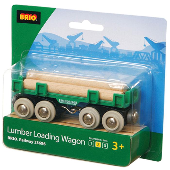 Brio Вагон с бревнами33696Дополнительный элемент для развития железной дороги.
