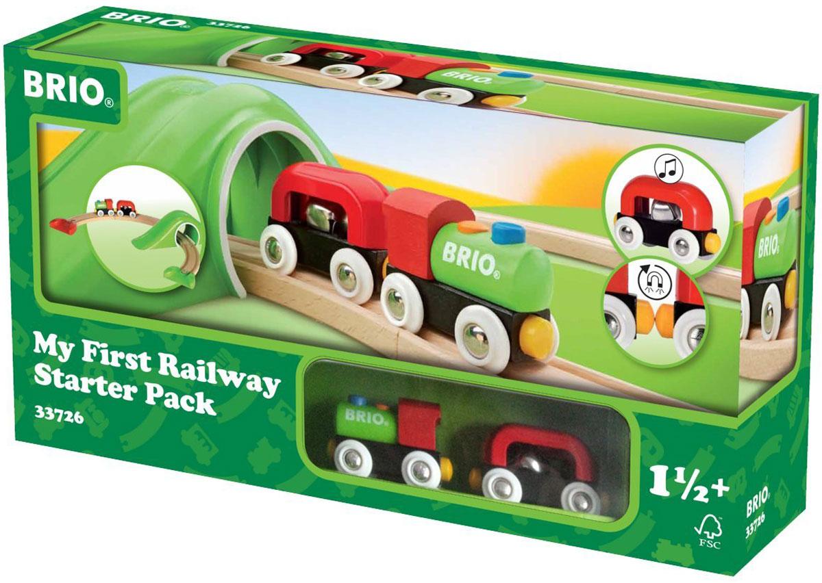 Brio Железная дорога Для самых маленьких33726Вашему ребенку обязательно понравится железная дорога Для самых маленьких. В набор входит яркий паровозик с вагончиком, а также элементы железной дороги и мост. Вагончик содержит металлический шарик, который будет забавно звенеть при движении. Паровозик соединяется с вагончиком с помощью магнита. Железные дороги позволяют ребенку не только получать удовольствие от игры, но и развивать пространственное воображение, мелкую моторику и координацию движений. Набор совместим со всеми железными дорогами и паровозиками Brio.