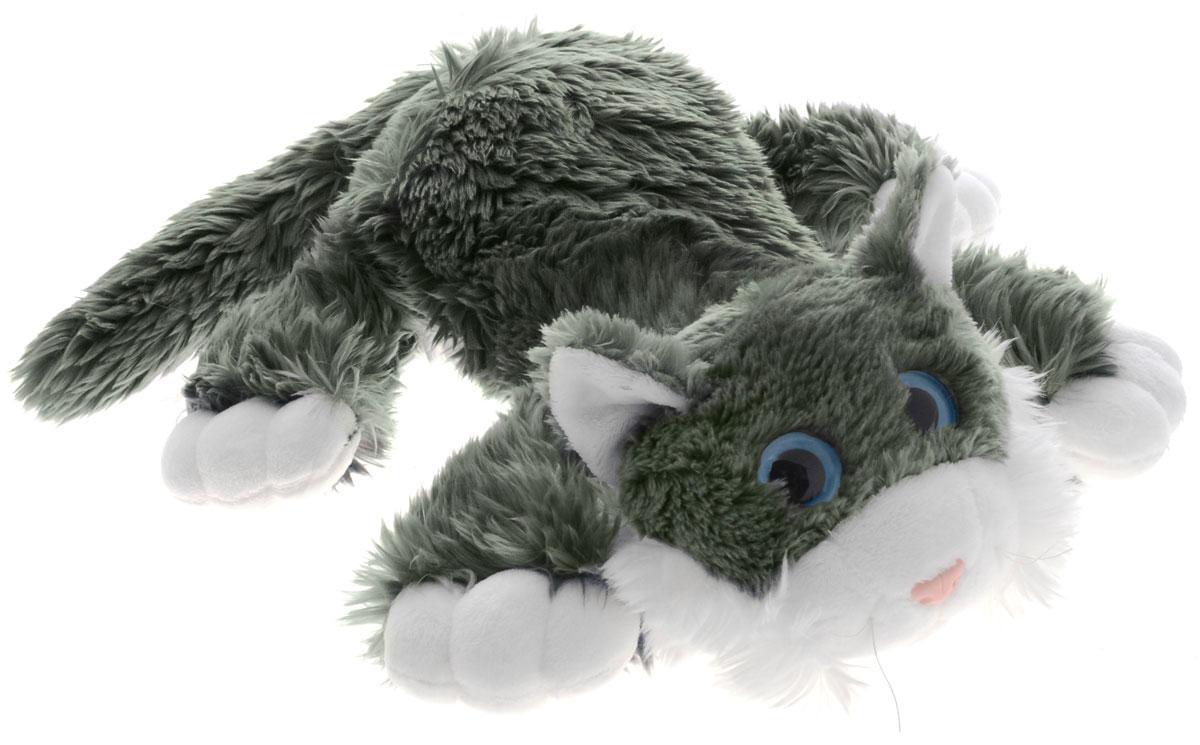 Gulliver Мягкая озвученная игрушка Котик Шалунишка цвет серый 40 см