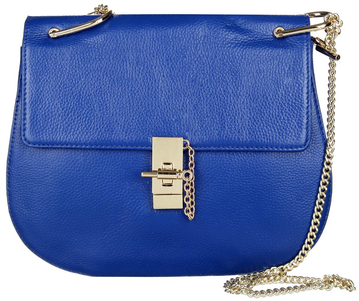 Сумка женская Vitacci, цвет: синий. V0920V0920Стильная женская сумка Vitacci изготовлена из искусственной кожи с зернистой фактурой. Лицевая сторона изделия оформлена металлической фурнитурой и оригинальным замком-вертушкой. Изделие содержит одно основное отделение, которое закрывается на застежку-молнию, внутри расположены два накладных кармана для мобильного телефона и мелочей и один вшитый карман на молнии и карман-средник на молнии. Сумка оснащена двумя плечевыми ремнями, один из которых выполнен из кожи, а другой выполнен в виде металлической цепочки. Практичная и стильная сумка прекрасно завершит ваш образ.