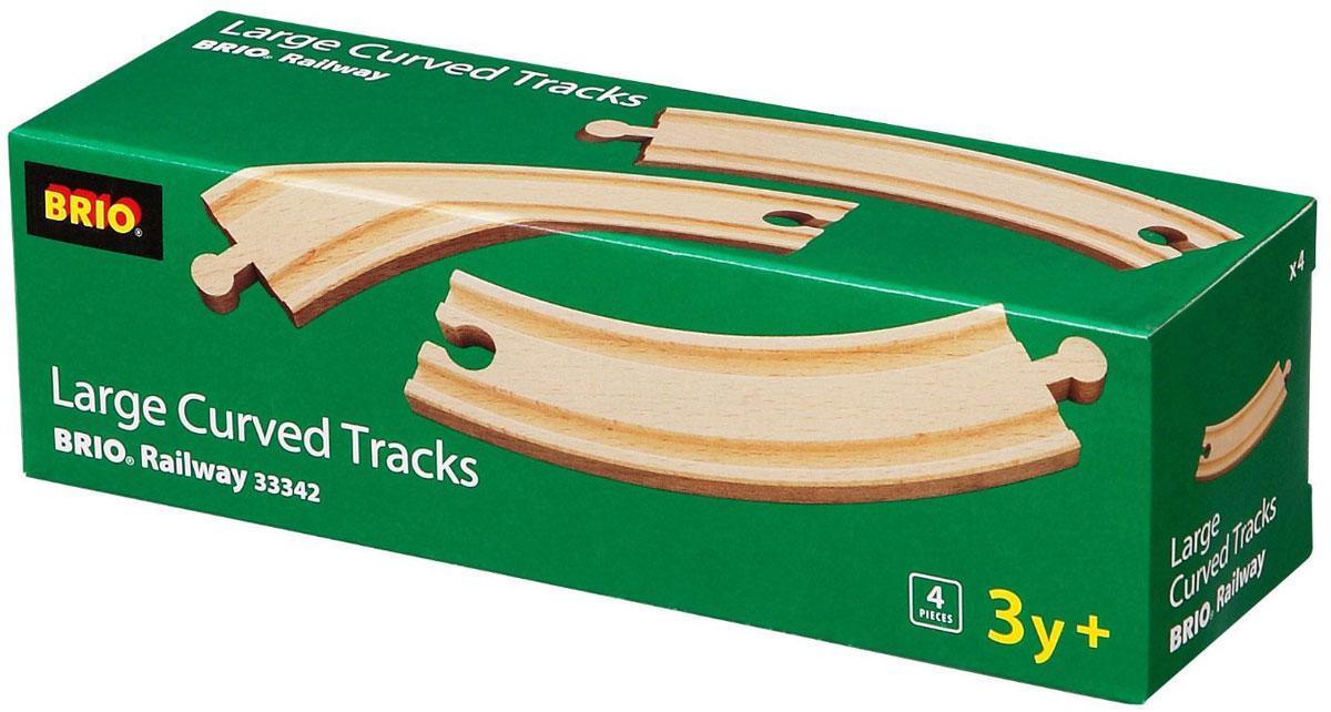 Brio Железная дорога Полотно закругленное33342Вашему ребенку обязательно придется по душе игровой набор Железная дорога. Полотно закругленное. В набор входят 4 элемента из натурального дерева для сборки железной дороги. С этим набором ребенок может значительно расширить возможности игр с железной дорогой. Набор совместим со всеми железными дорогами и паровозиками Brio. Железные дороги позволяют ребенку не только получать удовольствие от игры, но и развивать пространственное воображение, мелкую моторику и координацию движений.