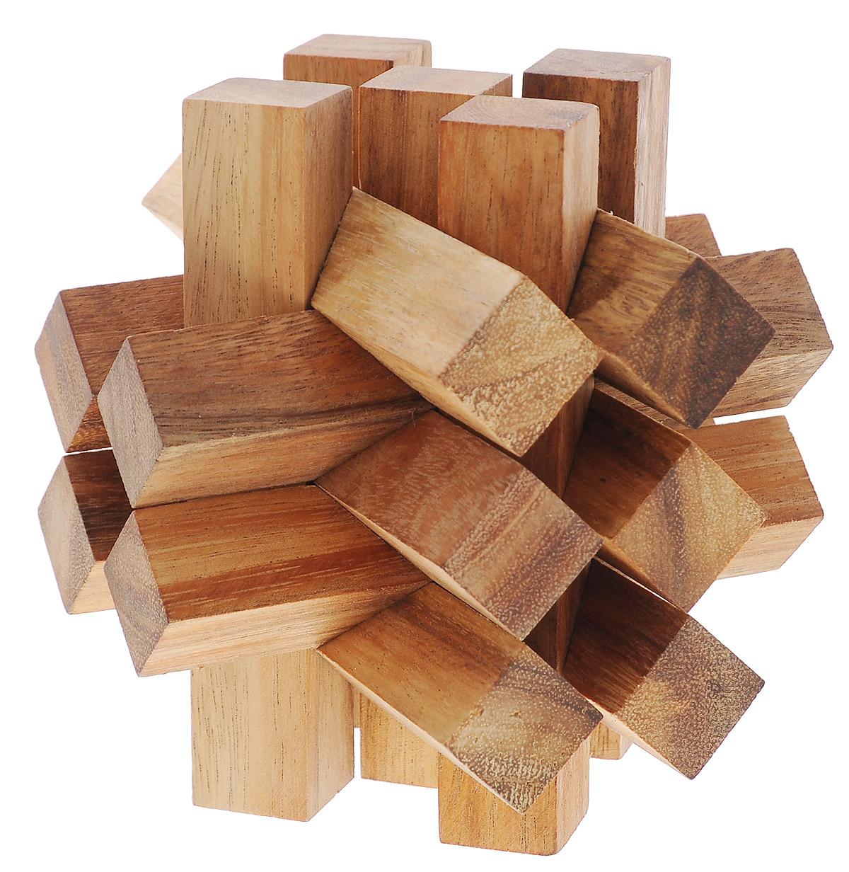 Dilemma Головоломка Заблокированные бруски 15 элементовIQ651A_15Головоломка Dilemma Заблокированные бруски, выполненная из дерева, станет отличным подарком всем любителям головоломок! Куб состоит из 15 деревянных деталей. Некоторые детали одинаковой формы, так что всего здесь три разных вида деталей. Попробуйте разобрать бруски (это нетрудно), а затем собрать их обратно (это сложнее). Слишком сложно? Воспользуйтесь предложенным решением в качестве подсказки. Игра рассчитана на одного игрока. Головоломка Dilemma Заблокированные бруски стимулирует логику, пространственное мышление и мелкую моторику рук.