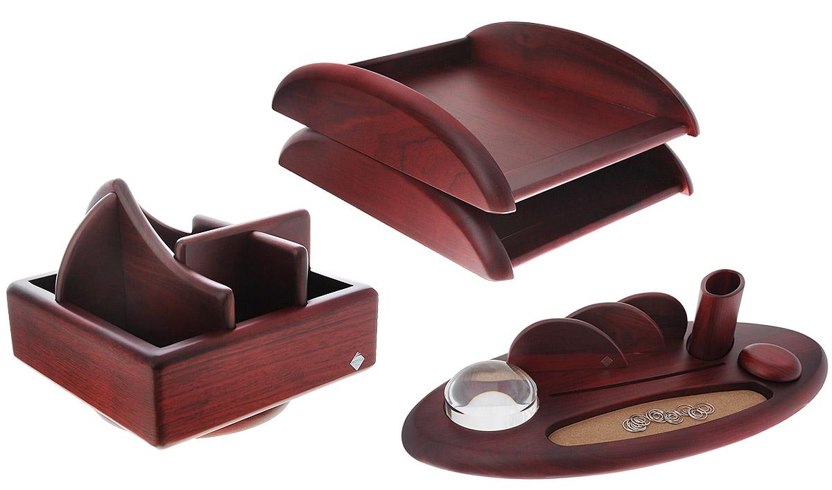 Protege Набор настольный Empereur цвет орех красно-коричневый 7 предметов