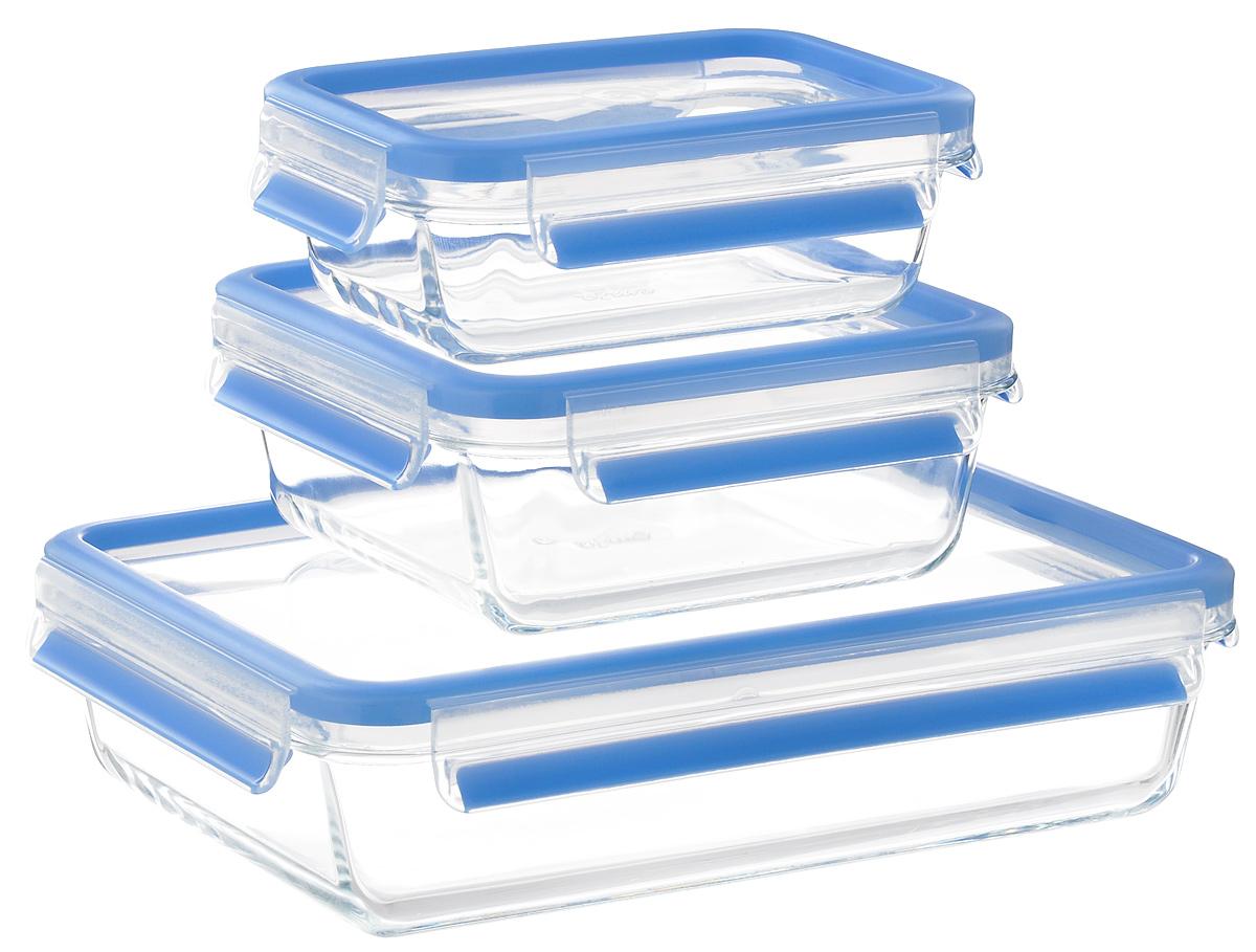 """Набор стеклянных контейнеров Emsa """"Clip&Close Glass"""", 3 шт"""