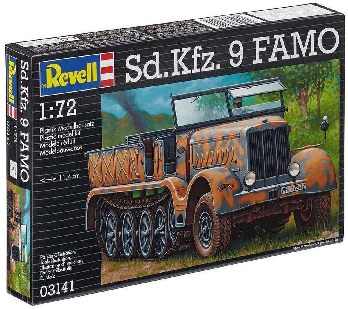 Revell Сборная модель Полугусеничный тягач Sd.Kfz. 9 FAMO03141RС помощью сборной модели Revell Полугусеничный тягач Sd.Kfz. 9 FAMO вы и ваш ребенок сможете собрать уменьшенную копию одноименной военной машины. Набор включает в себя 153 пластиковых элемента для сборки, а также схематичную инструкцию. Sd.Kfz. 9 - немецкий полугусеничный бронированный тягач времён Второй мировой войны. Являлся самой тяжёлой полугусеничной машиной выпускаемой Германией в тот период. В основном применялся для транспортировки орудий, в числе которых входила 240-мм гаубица Kanone 3, и для ремонта машин. Всего за войну было выпущено около 2 с половиной тысяч Sd.Kfz.9. Процесс сборки развивает интеллектуальные и инструментальные способности, воображение и конструктивное мышление, а также прививает практические навыки работы со схемами и чертежами. Уровень сложности: 5. УВАЖАЕМЫЕ КЛИЕНТЫ! Обращаем ваше внимание на тот факт, что элементы для сборки не покрашены. Клей и краски в комплект не входят.