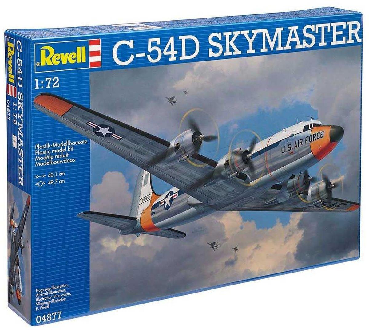 Revell Сборная модель Военно-транспортный самолет C-54D Skymaster