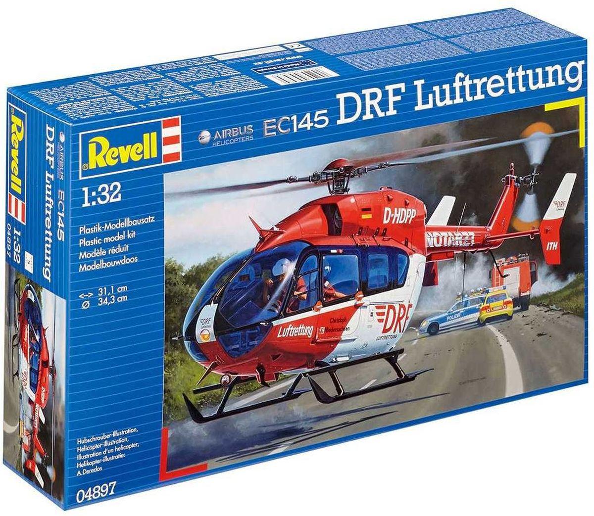 Revell Сборная модель Вертолет EC145 DRF Luftrettung