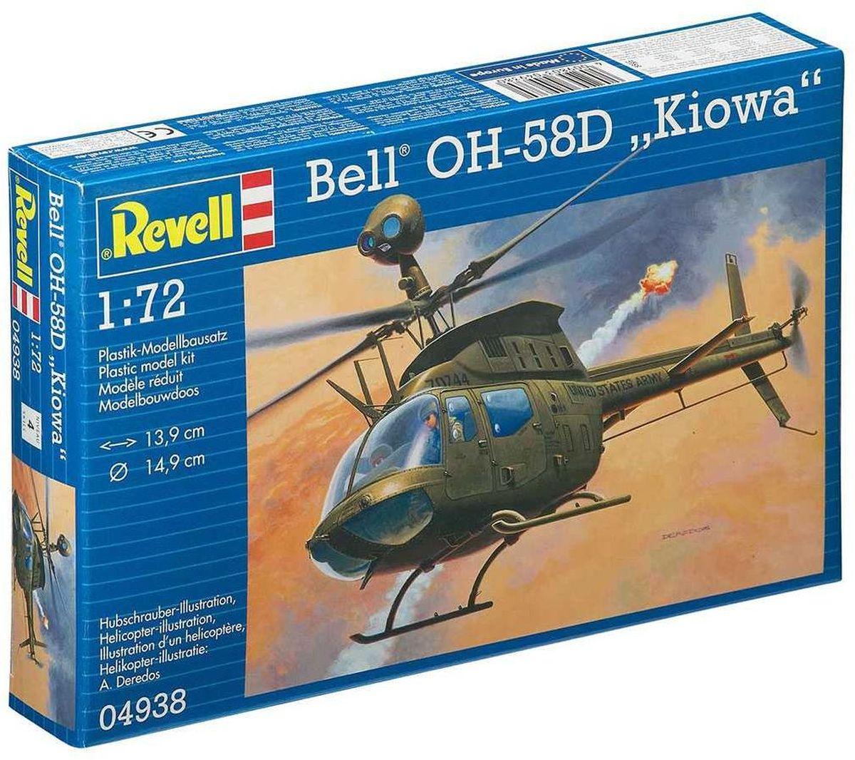 Revell Сборная модель Вертолет Bell OH-58D Kiowa