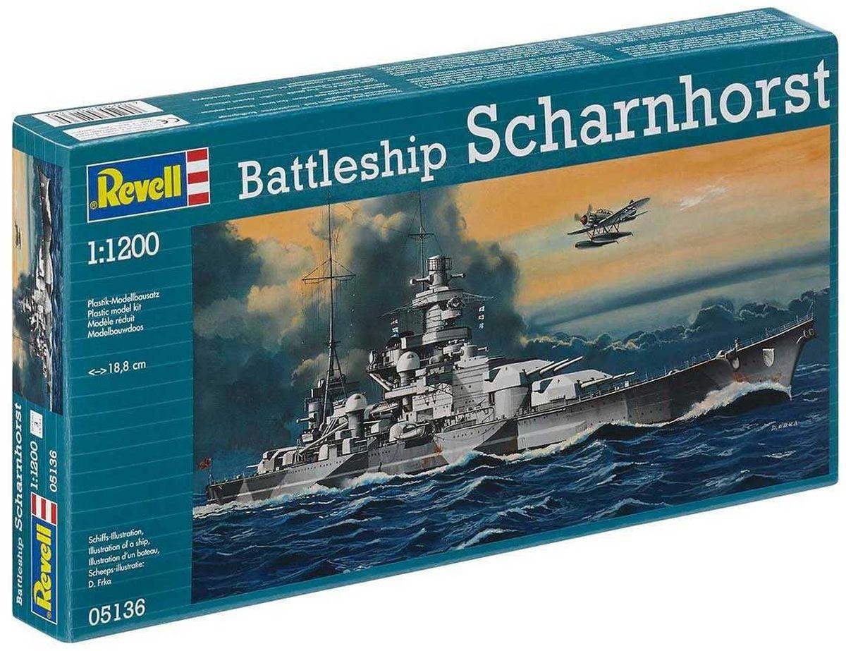 Revell Сборная модель Линкор Scharnhorst05136RС помощью сборной модели Revell Линкор Scharnhorst вы и ваш ребенок сможете собрать уменьшенную копию одноименного линкора. Набор включает в себя 48 пластиковых элементов для сборки, а также схематичную инструкцию. Когда Шарнхорст был спущен на воду в 1936 году, он и еще один однотипный корабль, Гнейзенау, представляли собой совершенно новый тип крейсера. Во время Второй Мировой, действуя из Бреста, эти корабли стали самой большой угрозой для торгового судоходства союзников. В феврале 1942 года, Шарнхорст сумел пробиться на север, где 26 декабря 1943 года был потоплен британским линкором Дюк оф Йорк. Процесс сборки развивает интеллектуальные и инструментальные способности, воображение и конструктивное мышление, а также прививает практические навыки работы со схемами и чертежами. Уровень сложности: 3. УВАЖАЕМЫЕ КЛИЕНТЫ! Обращаем ваше внимание на тот факт, что элементы для сборки не покрашены. Клей и краски в комплект не входят.