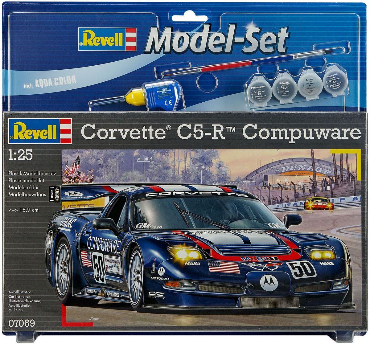 Revell Набор для сборки и раскрашивания модели Автомобиль Corvette C5-R Compuware