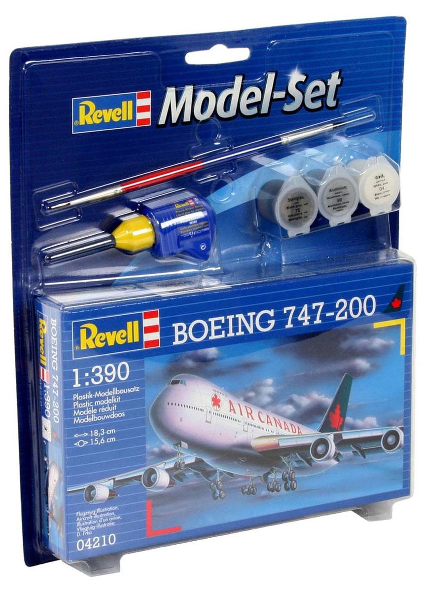Revell Набор для сборки и раскрашивания Самолет Boeing 747-200