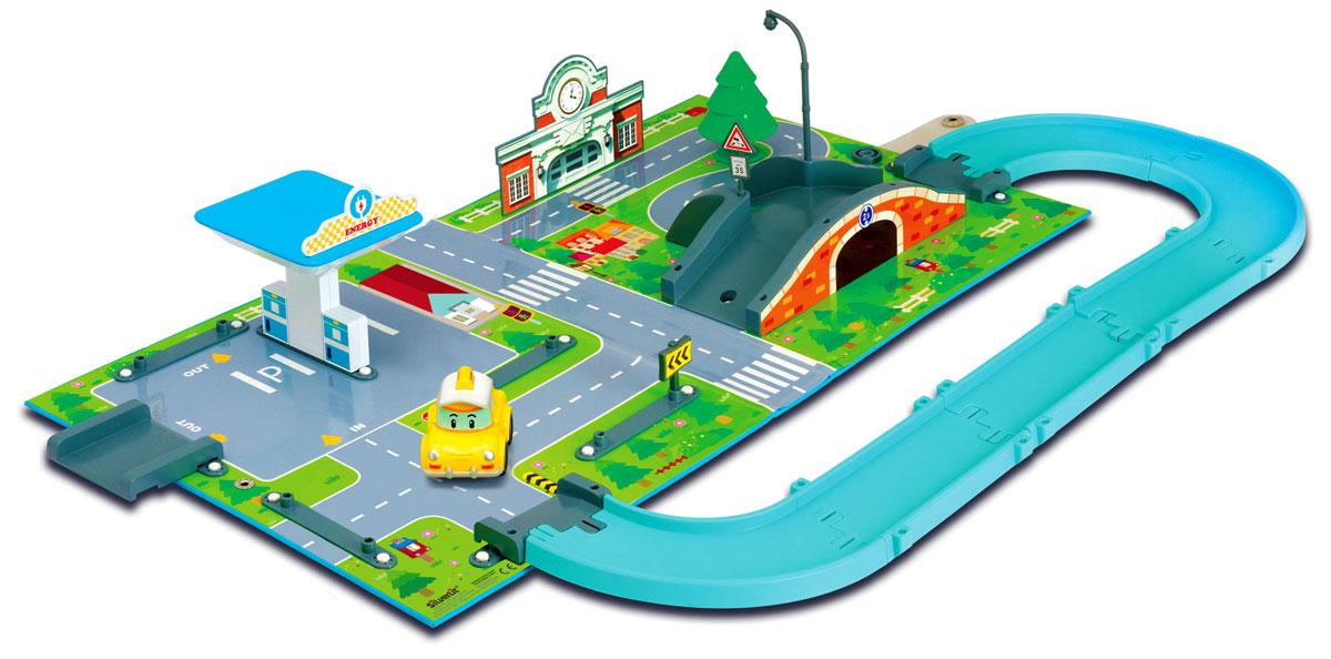 Robocar Poli Игровой набор Город83248Игровой набор Robocar Poli Город позволит вашему малышу погрузиться в мир Робокара Поли, прокатиться по улицам городка Брум и прийти на помощь жителям в разных ситуациях и происшествиях. В этом наборе есть почта, заправочная станция, мост. Набор можно соединить с другими наборами этой серии, значительно расширив поле игры. Заселив город другими персонажами-автомобилями, малыш сделает жизнь этого тихого городка поистине нескучной! В комплект входит: игровое поле, элементы для сборки зданий и сооружений, машинка Кэп.