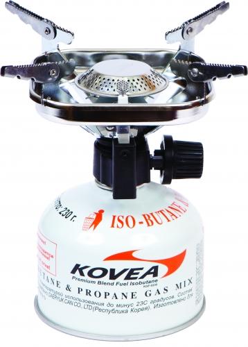 Горелка газовая Kovea Vulcan Stove ТКВ-890120-5-073Газовая горелка Kovea TKB-8901 Vulcan Stove - популярная портативная туристическая газовая горелка с пьезоподжигом. Благодаря увеличенному размеру головки, пламя горелки рассеивается, что уменьшает вероятность пригорания пищи. Раскладные лапки конфорки позволяют использовать посуду большого размера и приготовить пищу для нескольких человек. Теплоотражающий экран квадратной формы экономит топливо и эффективно отражает тепло газовой горелки на дно посуды, увеличивая тем самым КПД. Горелка работает от газового баллона резьбового стандарта, но возможно и подсоединение к цанговому газовому баллону при помощи адаптера со шлангом Cobra. Данные аксессуары приобретаются отдельно. Комплектация: горелка, пластиковый кофр, инструкция по эксплуатации. Мощность: 1,53 кВт. Вес: 338 г. Топливо: газ. Расход топлива: 160 г/ч. Размер (в походном положении): 122 мм x 100 мм x 125 мм. Диаметр конфорки: 19 см.