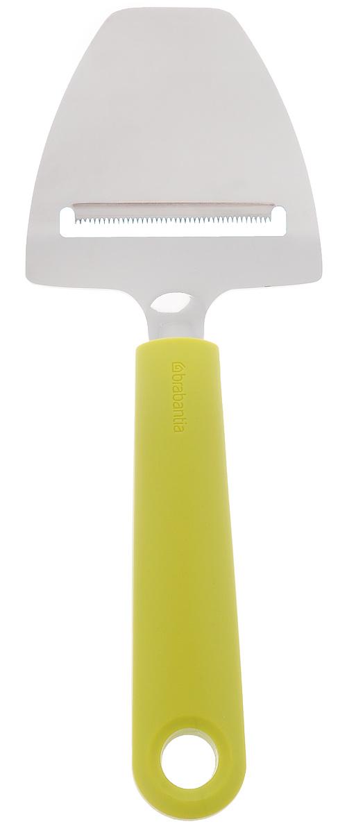 Нож для сыра Brabantia, цвет: оливковый, 20 см106422Нож для сыра Brabantia, изготовленный из нержавеющей стали, обладает исключительным качеством. Он превосходно подходит для нарезки твердых и мягких сыров. Нож оснащен эргономичной ручкой, не скользит в руках и делает резку удобной и безопасной. Многофункциональный нож подойдет для резки сыра, огурцов, моркови и т.д. Рукоятка ножа имеет петлю для подвешивания. Нож для сыра Brabantia займет достойное место среди аксессуаров на вашей кухне. Можно мыть в посудомоечной машине. Длина ножа: 20 см. Размер рабочей части: 7,5 см х 7,3 см.