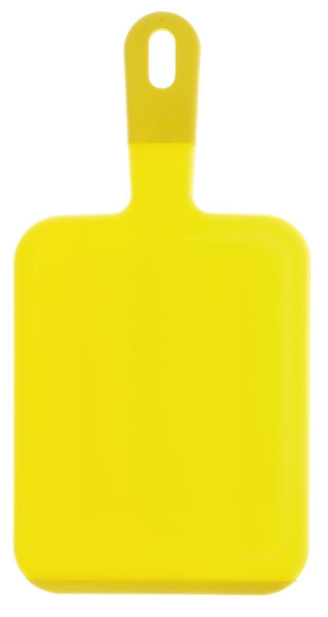 Доска разделочная Brabantia, цвет: желтый, 36 см х 18 см х 0,7 см