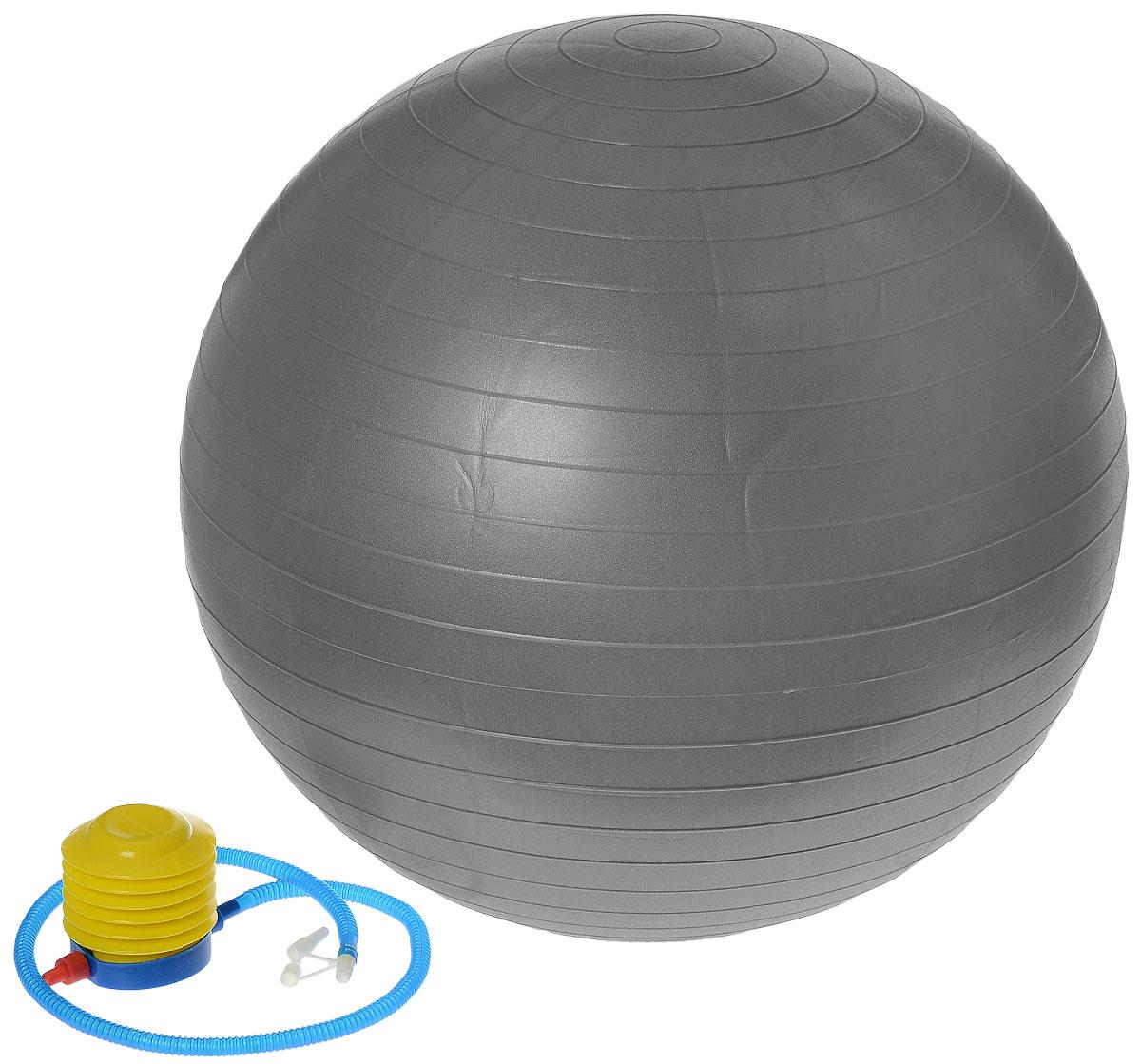 Мяч гимнастический Ironmaster, цвет: серый, диаметр 65 смIR97403Гимнастический мяч Ironmaster, выполненный из прочного ПВХ, легко транспортировать, поэтому его можно использовать для занятий как дома, так и в любом другом удобном месте. Изделие пригодится как начинающим, так и опытным спортсменам, и позволит существенно улучшить показатели вне зависимости от вашего уровня подготовки. Мяч идеально подходит для упражнений на растяжку, силовых упражнений и зарядки. Максимальный вес пользователя: 100 кг. УВАЖЕМЫЕ КЛИЕНТЫ! Обращаем ваше внимание на тот факт, что мяч поставляется в сдутом виде. Насос входит в комплект. Максимальный вес пользователя: 100 кг