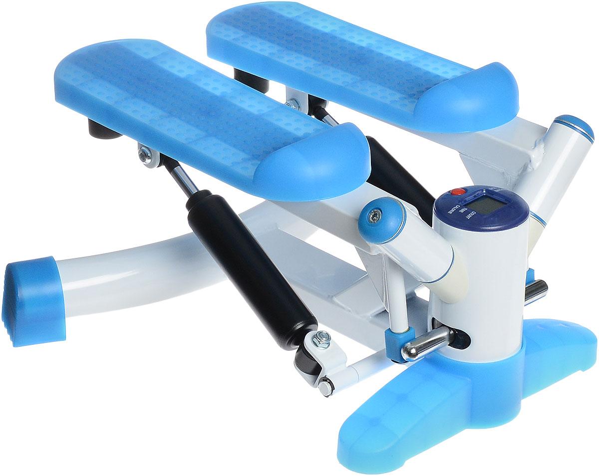 Министеппер поворотный Ironmaster. IRST28IRST28Поворотный министеппер Ironmaster - это удобный и компактный тренажер, позволяющий заниматься спортом в ограниченных пространствах. Степпер позволяет создать нагрузку на мышцы ног, ягодиц и брюшного пресса. Изделие оснащено компьютером. Компьютер Stop. Слово Stop отображается на экране, когда вы не работаете с устройством. Count. Показывает суммарное количество шагов за текущий сеанс занятий. Time. Показывает время тренировки. Calorie. Показывает количество калорий, потраченных за время тренировки. Reps/min. Показывает среднее количество шагов в минуту. Scan. Циклическое чередование доступных функций (смена происходит каждые 6 секунд). Назначение кнопок Reset. При нажатии кнопки произойдет сброс настроек. Компьютер работает от батарейки типа АА (входят в комплект).