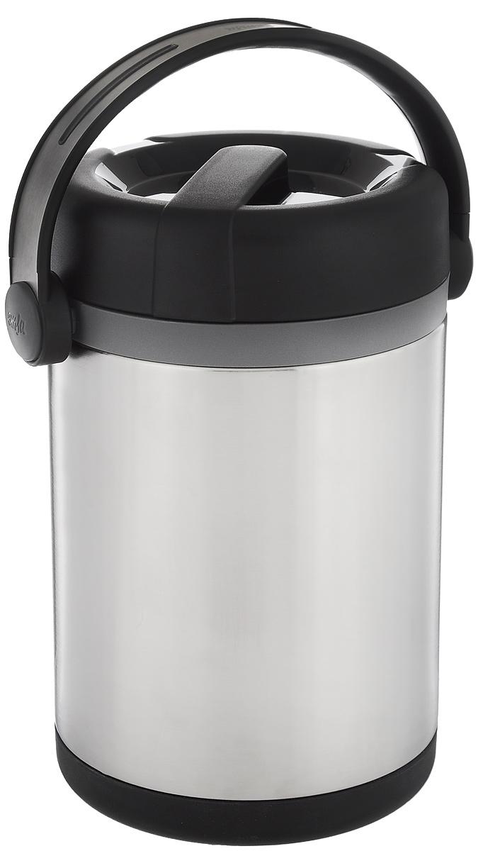 Термос для еды Emsa Mobility, цвет: серебристый, черный, 1,7 л509245Термос с широким горлом Emsa Mobility выполнен из прочной нержавеющей стали. Оснащен двустенной вакуумной колбой. Термос прост в использовании и очень функционален. В комплекте 2 контейнера, которые можно использовать в качестве мисок для еды. Термос оснащен ручкой для удобной переноски. Легкий и прочный термос Emsa Mobility сохранит вашу еду горячей или холодной надолго. Высота (с учетом крышки): 22 см. Диаметр горлышка: 11,5 см. Диаметр дна: 13 см. Размер большого контейнера: 11 см х 11 см х 10 см. Размер маленького контейнера: 11 см х 11 см х 5,5 см. Сохранение холода: 12 ч. Сохранение тепла: 6 ч.