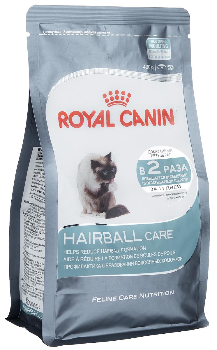 Корм сухой Royal Canin Intense Hairball 34, для полудлинношерстных взрослых кошек, 400 г58062Сухой корм Royal Canin Intense Hairball 34 - это полноценное и сбалансированное питание, помогающее выводить комочки шерсти из желудка кошки. Доказанная эффективность. При кормлении исключительно данным рационом из пищеварительного тракта кошки выводится вдвое больше шерсти; этот эффект заметен уже через 21 день. Эвакуация естественным путем. Подорожник, богатый волокнами (растительным клеем) в сочетании с тонкоизмельченной клетчаткой стимулирует транзит пищи по кишечнику. Шерсть не скапливается в желудке и не отрыгивается, а регулярно выводится с фекалиями. Состав: дегидратированное мясо домашней птицы, рис, кукурузный глютен, растительные волокна, кукурузная мука, животные жиры, гидролизат животных белков, свекольный жом, минеральные вещества, оболочки и семена подорожника, дрожжи, соевое масло, полифосфат натрия, рыбий жир, фруктоолигосахариды, яичный порошок, DL-метионин, таурин, L-цистин. Добавки (в 1 кг): медь — 24 мг, железо —...