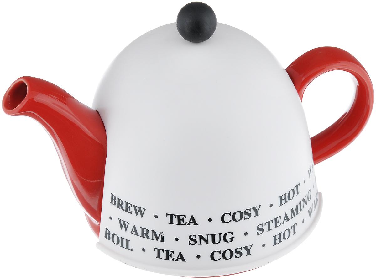 Чайник заварочный Mayer & Boch, с термоколпаком, цвет: белый, красный, 500 мл21877_красный/белыйЗаварочный чайник Mayer & Boch, выполненный из керамики, позволит вам заварить свежий, ароматный чай. Чайник оснащен сетчатым фильтром из нержавеющей стали. Он задерживает чаинки и предотвращает их попадание в чашку. Сверху на чайник одевается термоколпак из пластика с тканевой прослойкой. Он поможет дольше удерживать тепло, а значит, вода в чайнике дольше будет оставаться горячей и пригодной для заваривания чая. Заварочный чайник Mayer & Boch послужит хорошим подарком для друзей и близких. Высота чайника (без учета ручки и крышки): 9,5 см. Размер термоколпака: 14,5 см х 14,5 см х 13 см.