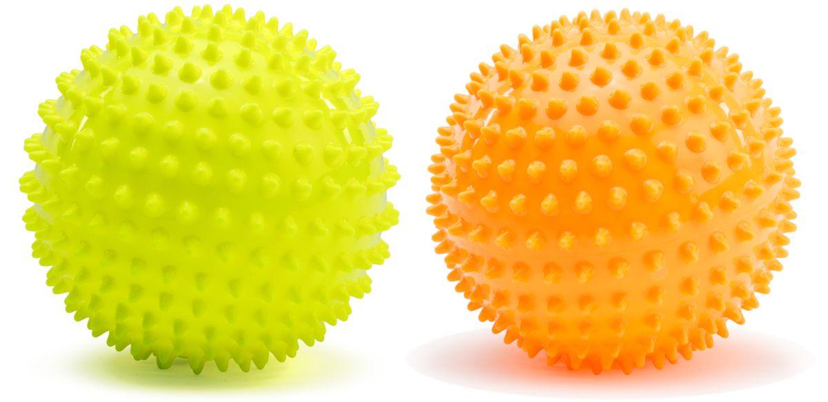 Picnmix Развивающая игрушка Набор из двух малых мячей113001Набор из 2-х массажно-игровых малых (D-12см) мячей желтого и оранжевого цветов. Мячи способоствуют гармоничному развитию всей мускулатуры ребенка, тренировке реакции, координации, цветового и тактильного восприятия. Подходит для игр в воде. Мячи снабжены ниппелем.