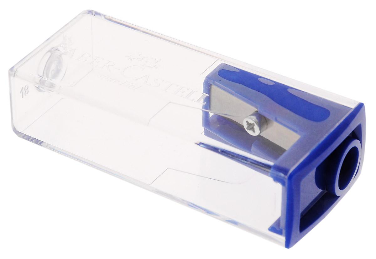 Faber-Castell Точилка с контейнером цвет синий263222_синийТочилка Faber-Castell предназначена для затачивания карандашей диаметром 8 мм. Прозрачный контейнер позволяет определить уровень заполнения и вовремя произвести очистку. Острые стальные лезвия обеспечивают высококачественную и точную заточку деревянных карандашей.