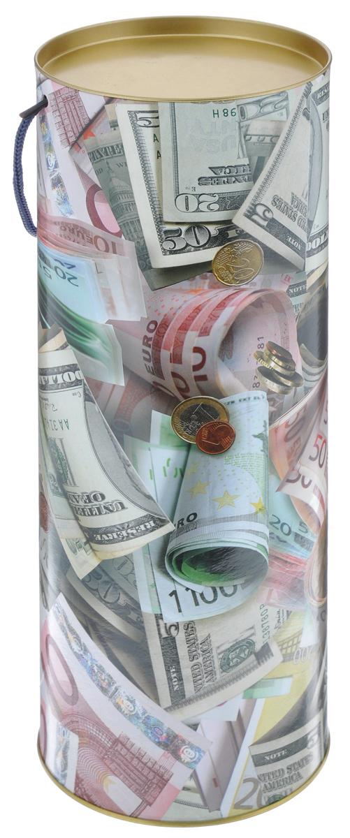 Тубус подарочный Правила Успеха Не в деньгах счастье, диаметр 12 см4610009211Подарочный тубус Правила Успеха Не в деньгах счастье выполнен из плотного картона и металла. Изделие оформлено ярким изображением бумажных денежных купюр и монет. Тубус оснащен металлической крышкой и текстильной ручкой. Подарочный тубус - это оригинальное решение, если вы хотите порадовать ваших близких и создать праздничное настроение, ведь подарок, преподнесенный в необычной упаковке, всегда будет самым эффектным и запоминающимся. Окружите близких людей вниманием и заботой, вручив презент в нарядном, праздничном оформлении. Высота тубуса: 34,5 см.