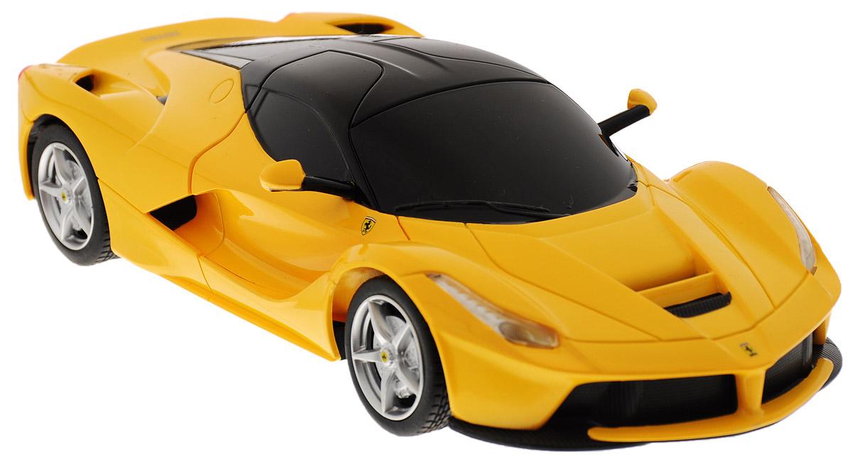 Rastar Радиоуправляемая модель Ferrari LaFerrari цвет желтый48900Радиоуправляемая модель Rastar Ferrari LaFerrari станет отличным подарком любому мальчику! Все дети хотят иметь в наборе своих игрушек ослепительные, невероятные и крутые автомобили на радиоуправлении. Тем более, если это автомобиль известной марки с проработкой всех деталей, удивляющий приятным качеством и видом. Одной из таких моделей является автомобиль на радиоуправлении Rastar Ferrari LaFerrari. Это точная копия настоящего авто в масштабе 1:24. Возможные движения: вперед, назад, вправо, влево, остановка. Имеются световые эффекты. Пульт управления работает на частоте 40 MHz. Для работы игрушки необходимы 3 батарейки типа АА (не входят в комплект). Для работы пульта управления необходимы 2 батарейки типа АА (не входят в комплект).