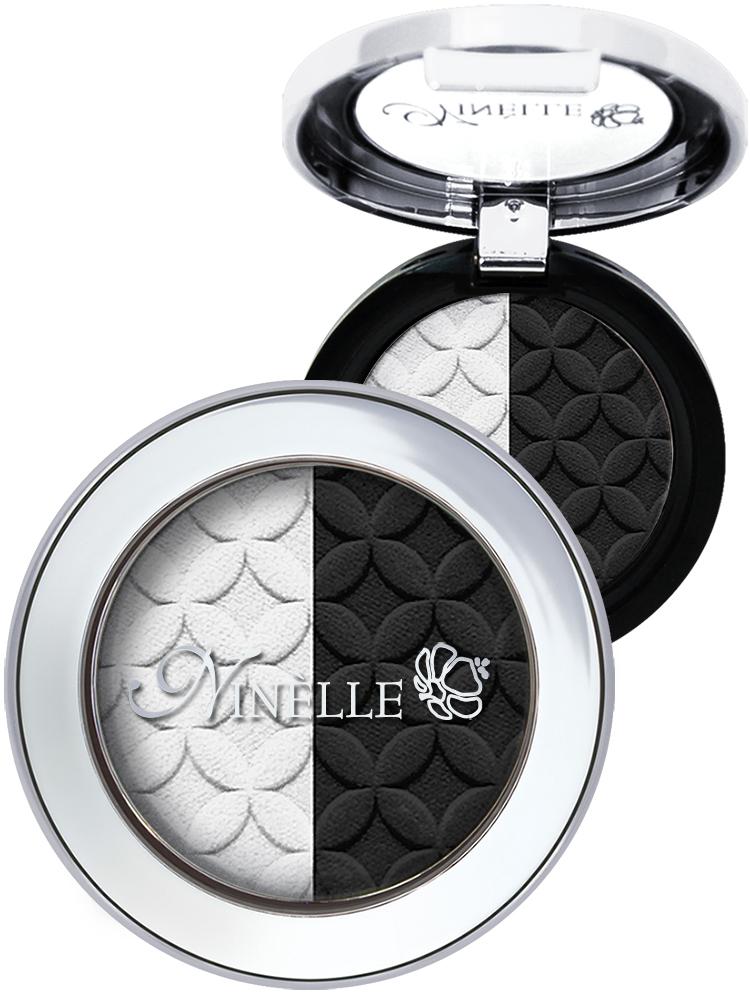 Ninelle Тени для век Artist, тон №40 черно-белый, 2,5 г957N10661Двойные тени Artist от Ninelle - это непревзойденное ретро с новым звучанием. Два оттенка, дополняющих друг друга. Один акцентирует, другой - подчеркивает форму. Тени для век Artist марки Ninelle великолепно наносятся на веко, не скатываются и позволяют создавать различные степени макияжа - от совсем легкого и невесомого до насыщенного и интенсивного. Наносятся двумя способами: сухой способ обеспечивает легкое полупрозрачное покрытие с мягким сиянием, влажный - усиливает плотность, цвет и сияние теней. Гипоаллергенно. Товар сертифицирован.