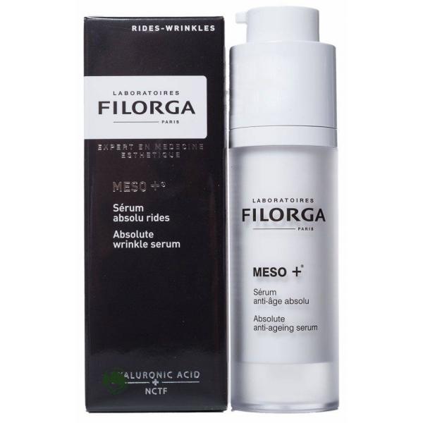 Filorga Сыворотка Meso+ против старения 30 млDCGP012Комплексно воздействует на все этапы старения: стимулирует, разглаживает,восстанавливает. Сыворотка является настоящим ускорителем коллагена, состоящим из молекулы NCTF, широко применяемой в космезотерапии, и фрагментов ДНК, обладает мощным увлажняющим и антиоксидантным эффектом, восстанавливает фибробласты: эксклюзивный коктейль стимулирует клеточную активность дермы для укрепления и восстановления кожи. Параллельно ретинол разглаживает кожу лица, устраняя морщины и выравнивая рельеф. Шелковистая текстура на водной основе мгновенно впитывается, обеспечивая эффект бархатной кожи. Кожа ровная и гладкая, восстановлена на поверхности и в глубине, свежая, отдохнувшая, светится энергией. Кожа ровная, гладкая светится энергией